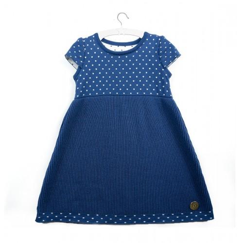 Elegancka, niebieska sukienka Melissa  dla dziewczynki
