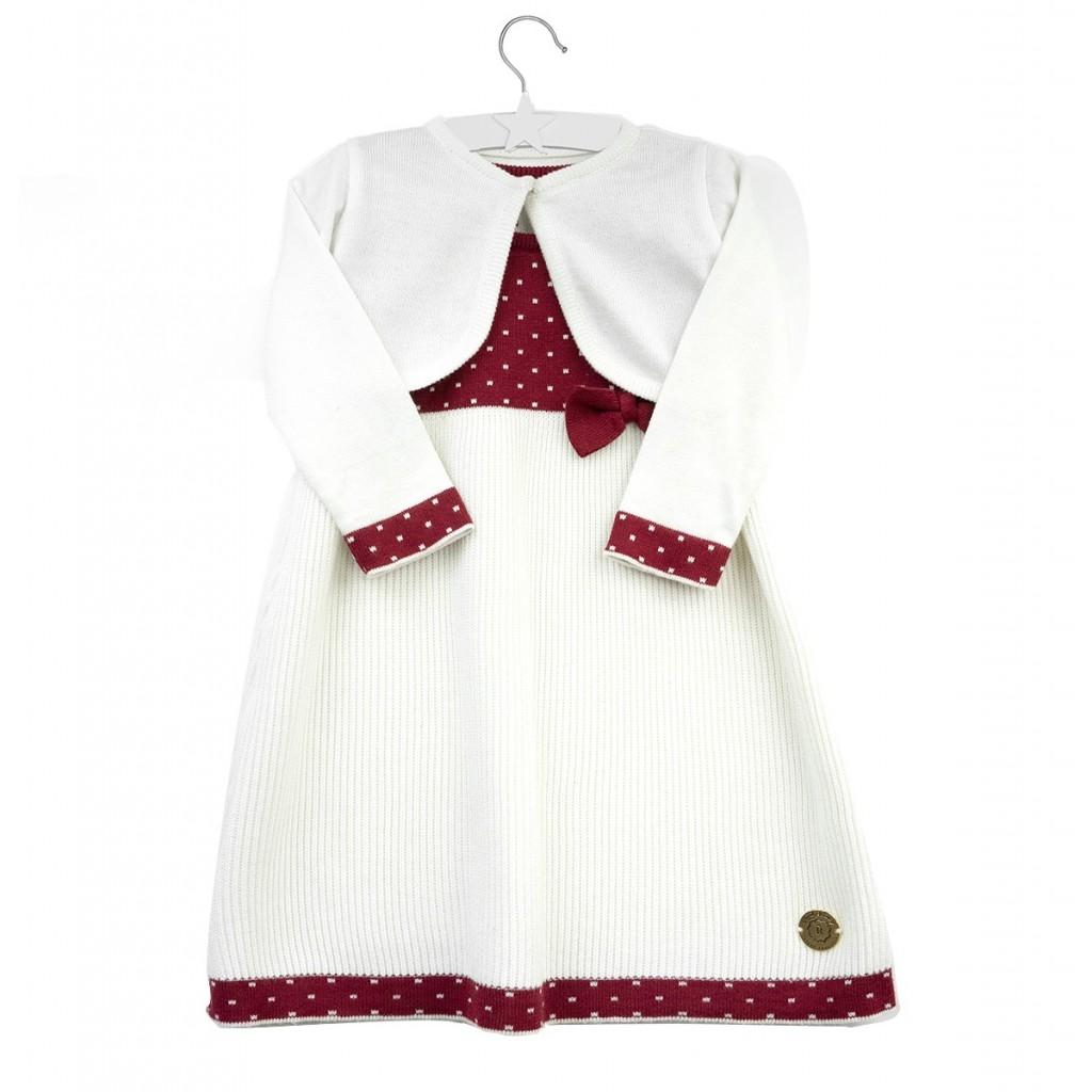 Elegancka, biała sukienka Melissa  dla dziewczynki  z bolerkiem