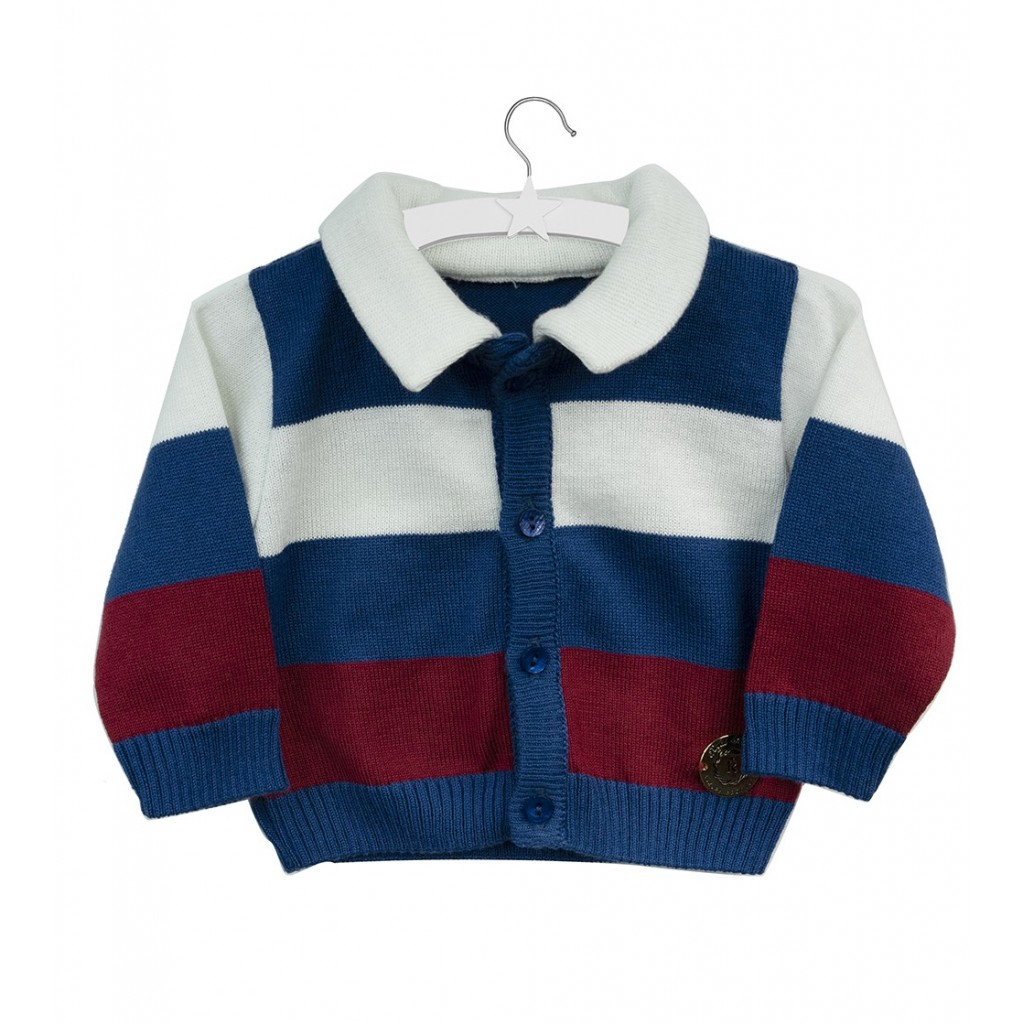 Sweterek James - pasiasty sweterek dla chłopca